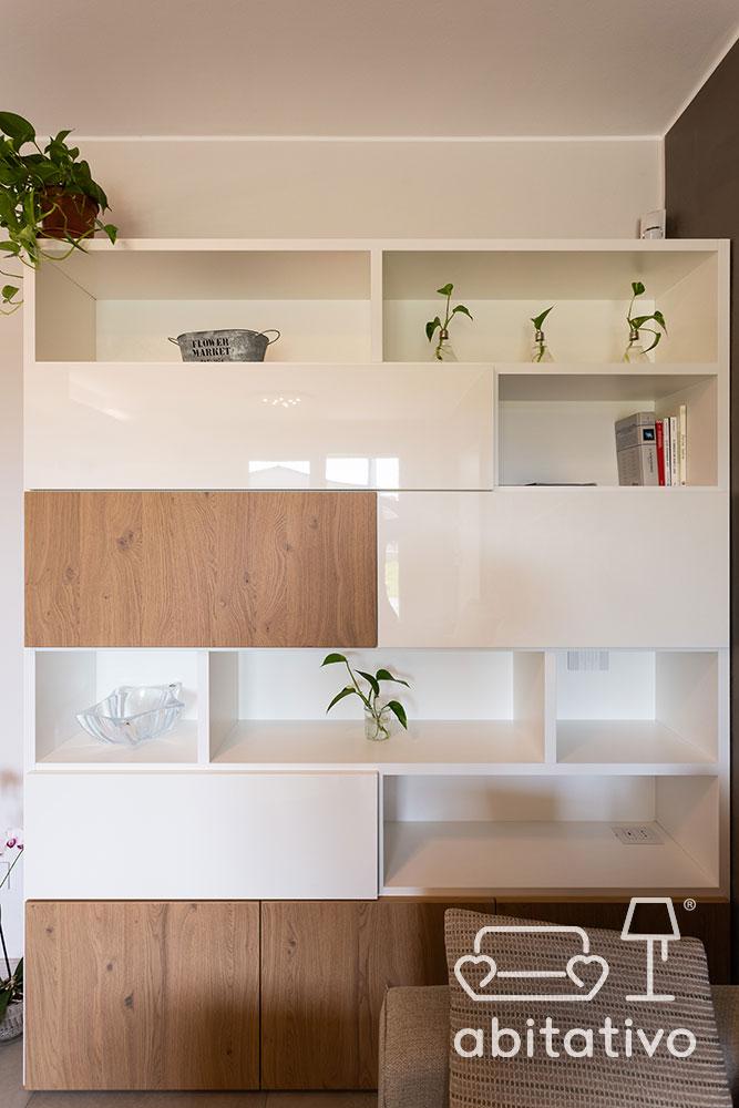 libreria bianca legno