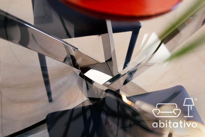 tavolo pranzo acciaio vetro
