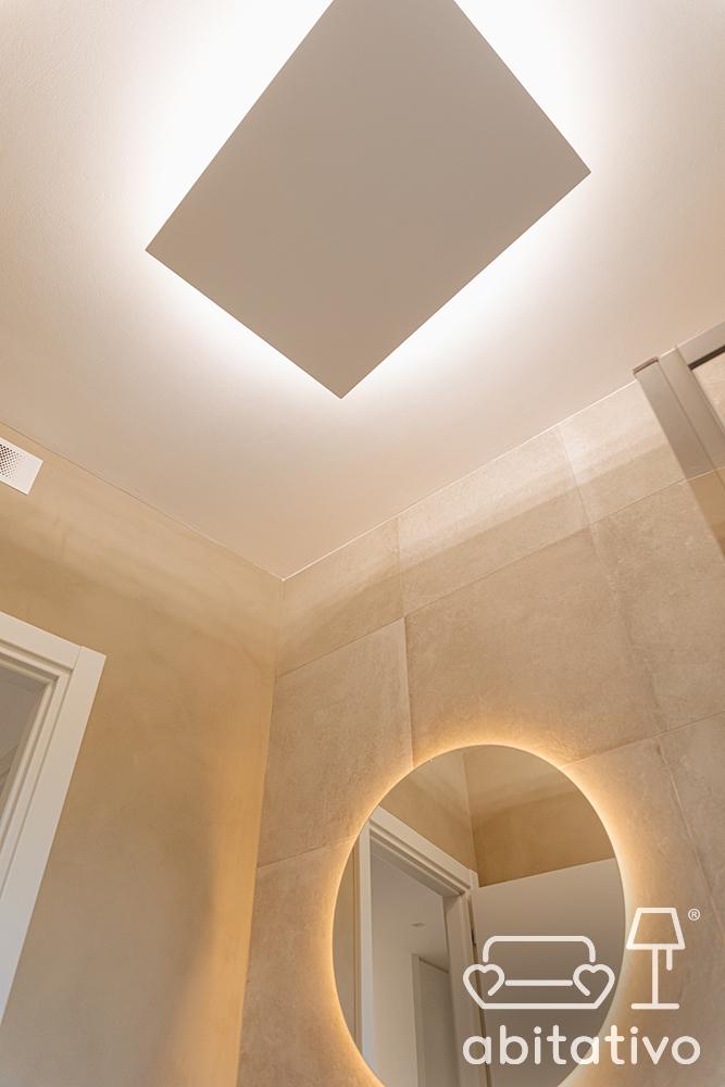 illuminazione moderna bagno
