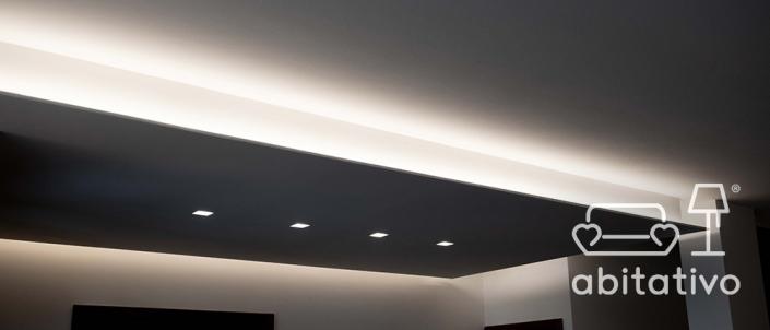 illuminazione controsoffitto soggiorno