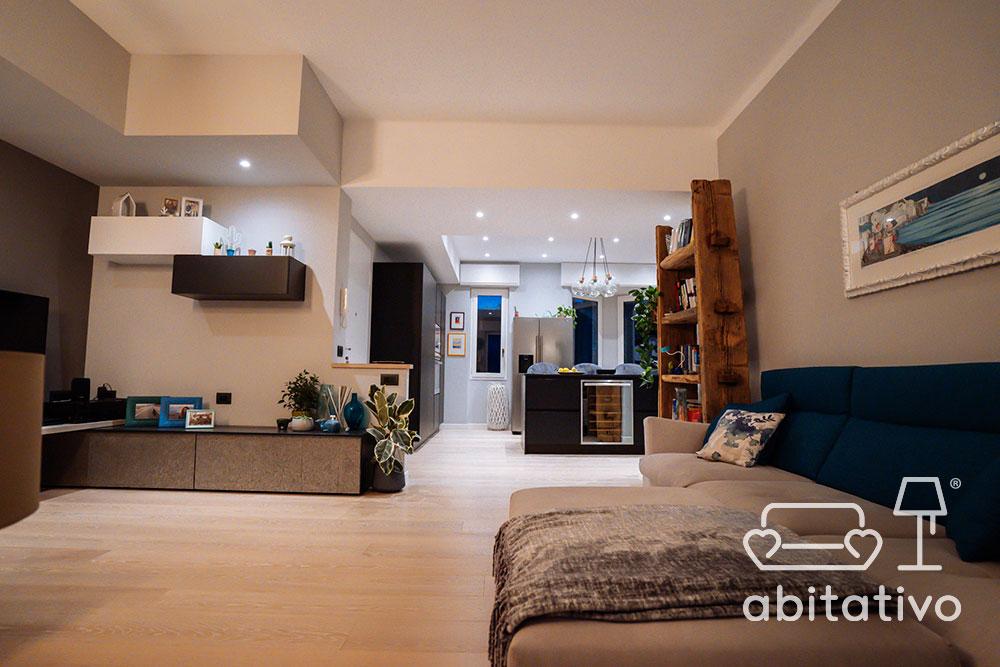 arredamento di un soggiorno moderno e sofisticato