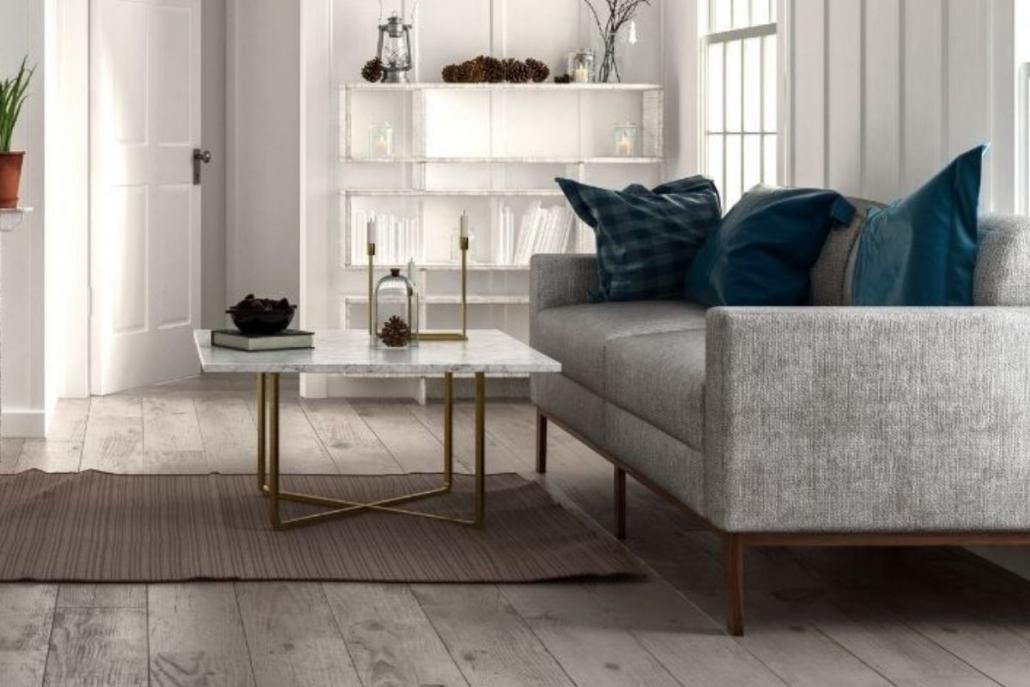 tappeto con tavolino in un soggiorno