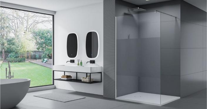 doccia walk in design moderno
