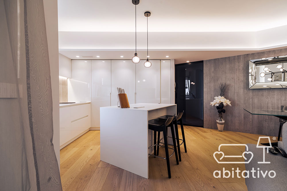 cucina open space design moderno