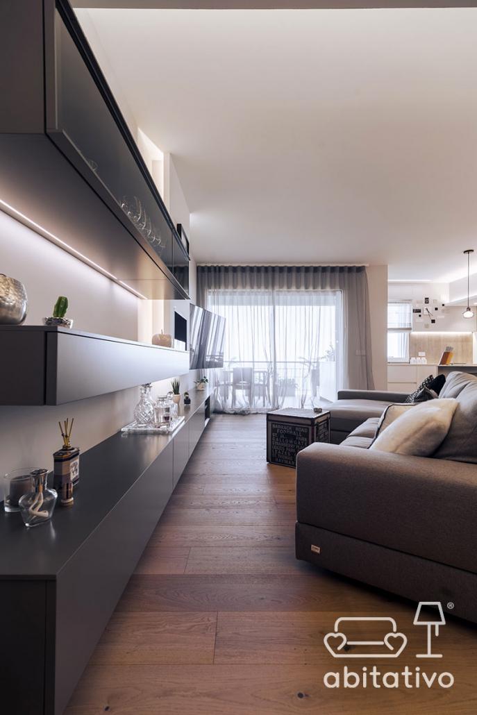 progetto mobili arredo soggiorno