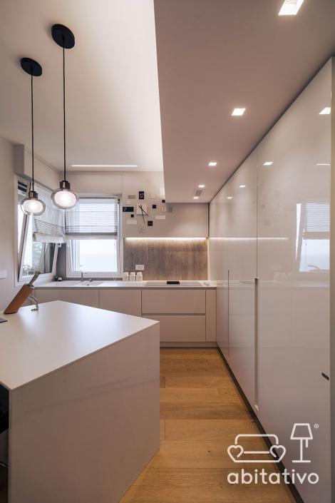 progetto illuminazione cucina abitativo