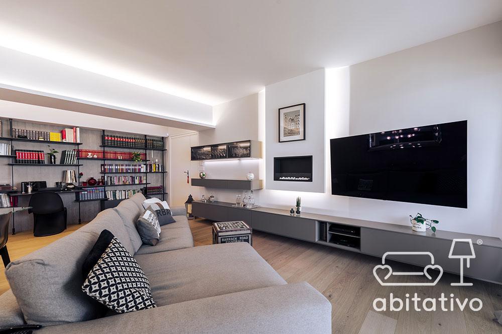 interior design soggiorno abitativo