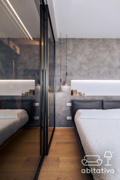 camera da letto moderna abitativo
