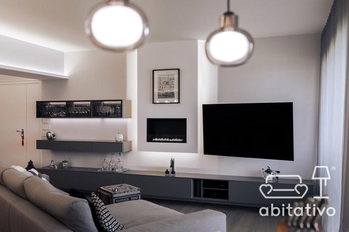 illuminazione moderna soggiorno