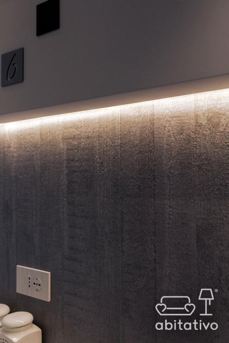 luce cartongesso parete