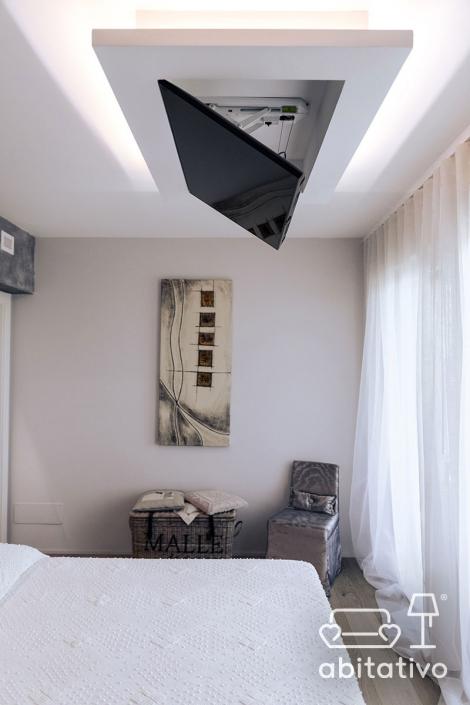 televisore a incasso soffitto